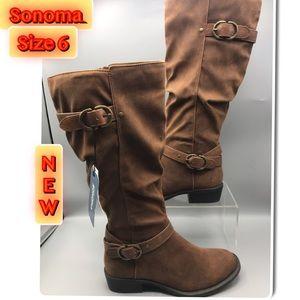 Sonoma Brown New Knee Hi Winter Boots Sz. 6